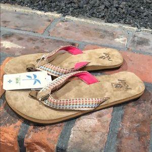 18faabd7461d57 Reef NWT Jute Thong Flip Flops size 8